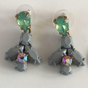 J Crew Teardrop Pastiche dangly enamel Earrings